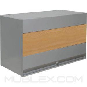 archivador flotante de pared frente 60cm franja melamina 2