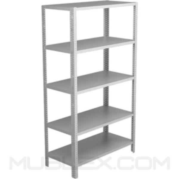 estante metalico para almacen 5 repisas altura 2 mt