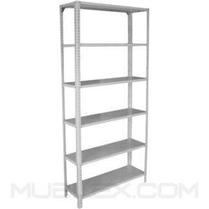 estante metalico para almacen 6 repisas altura 2.4 mt