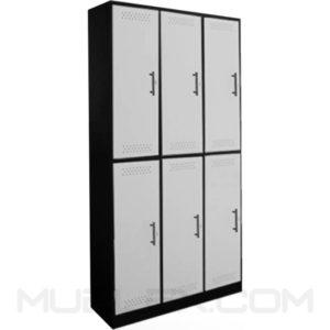 locker metalico 6 casilleros