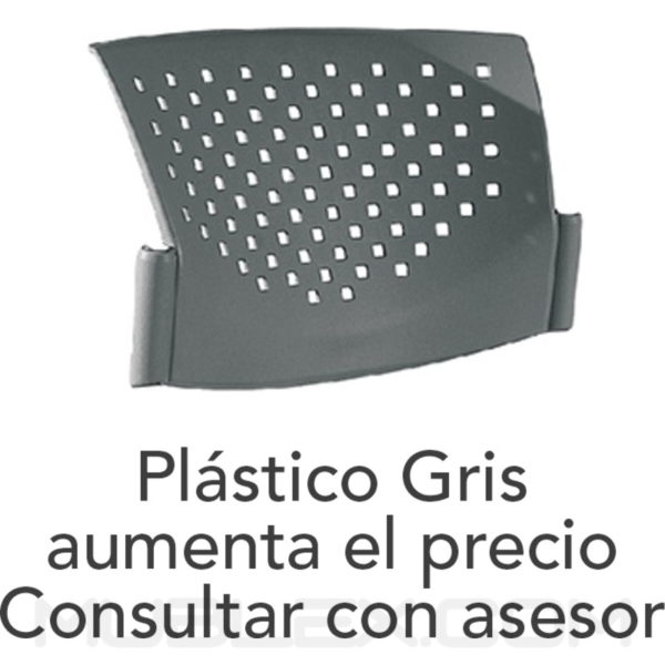 plastico butterfly gris