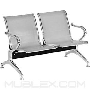 silla de espera metalica 2 puestos