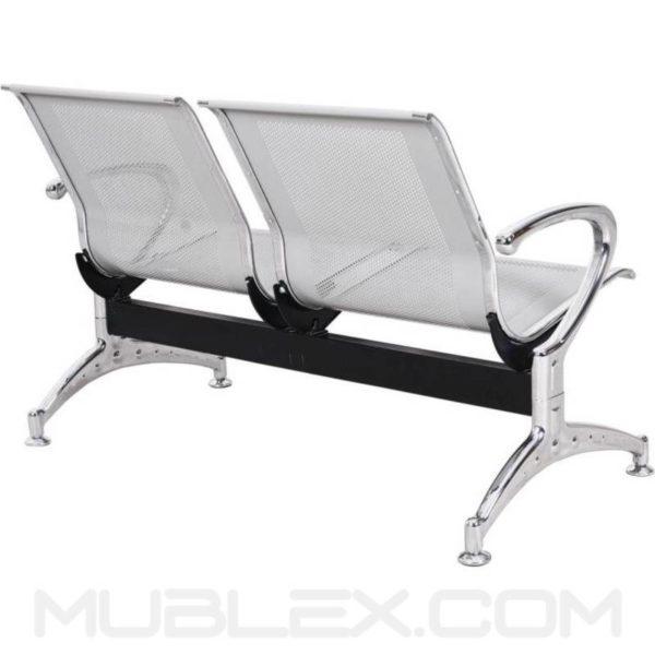 silla de espera metalica 2 puestos 3