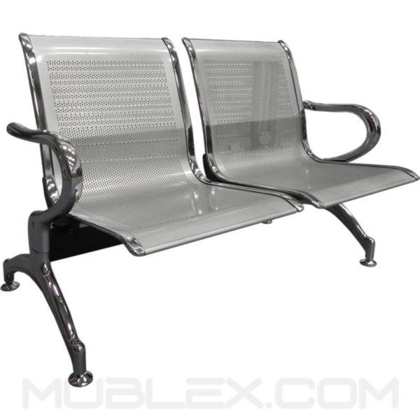silla de espera metalica 2 puestos 4