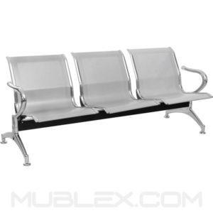 silla de espera metalica 3 puestos