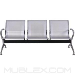 silla de espera metalica 3 puestos 2