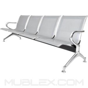 silla de espera metalica 4 puestos 2