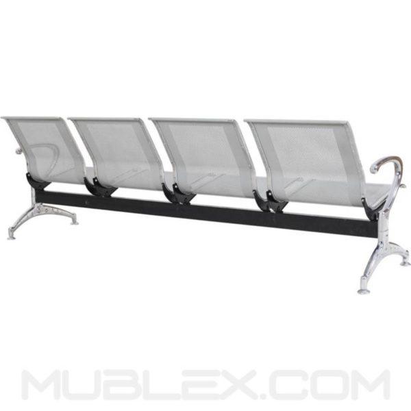 silla de espera metalica 4 puestos 4