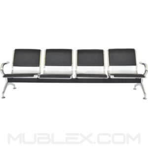 silla de espera metalica cuerina 4 puestos 2