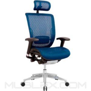 silla japon azul con cabecero