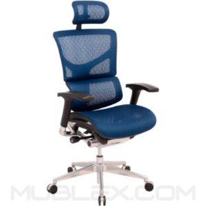 silla korea azul con cabecero