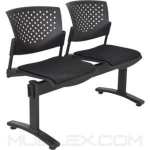 silla tandem butterfly tapizado 2 puestos