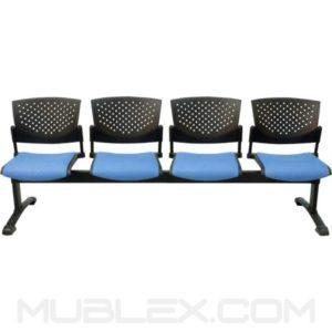 silla tandem butterfly tapizado 4 puestos