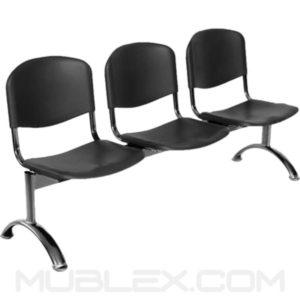 silla tandem novaiso 3 puestos