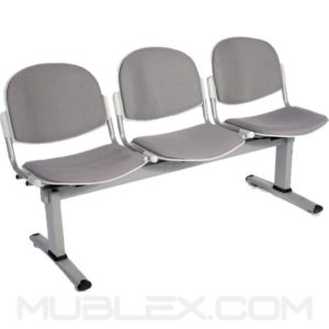 silla tandem venecia tapizado 3 puestos