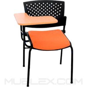 silla universitaria butterfly acolchada brazo escualizable en formica