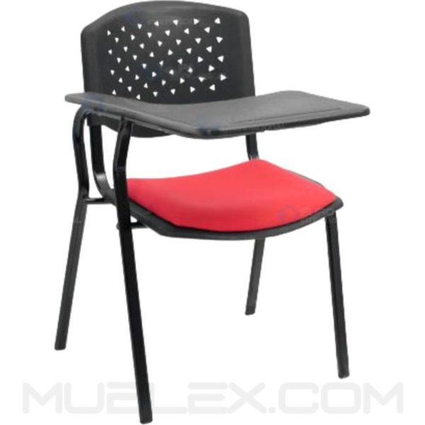 silla universitaria prisma acolchada brazo fijo en plastico