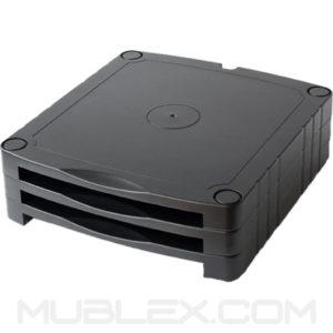 soporte monitor documentos mini modular 3 alturas