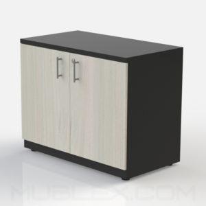 Armario multiusos bajo negro puerta madera