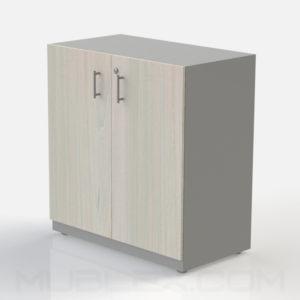 Armario multiusos mediano gris puerta madera