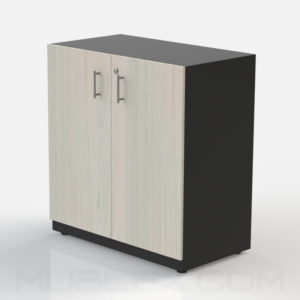 Armario multiusos mediano negro puerta madera