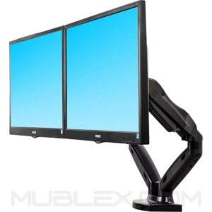 soporte para 2 pantallas  flexi f160  17 a 27 pulgadas