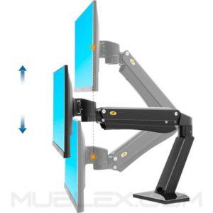 soporte para monitor de escritorio  flexi f45  27 a 40 pulgadas 2
