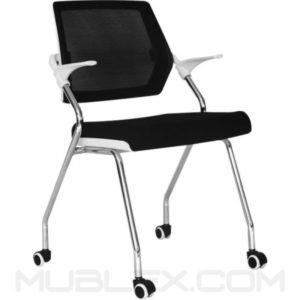 silla beirut ruedas marco blanco
