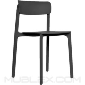silla clay negra