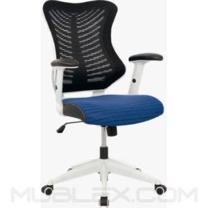 silla rumania blanca azul
