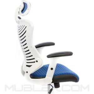 silla rumania blanca azul cabecero 2