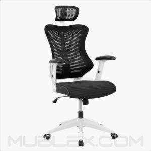silla rumania blanca negra cabecero