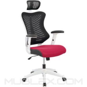 silla rumania blanca roja cabecero
