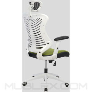 silla rumania blanca verde cabecero 2