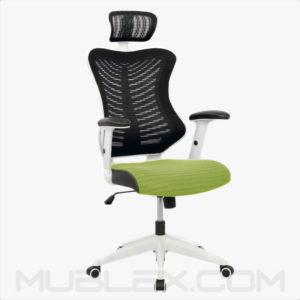 silla rumania blanca verde cabecero