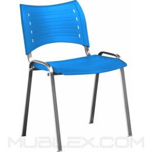 silla smart plastica azul cromo