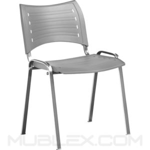 silla smart plastica gris cromo