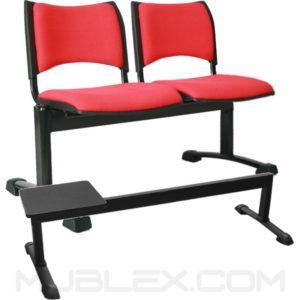 silla tandem smart 2 puestos tapizado mesa