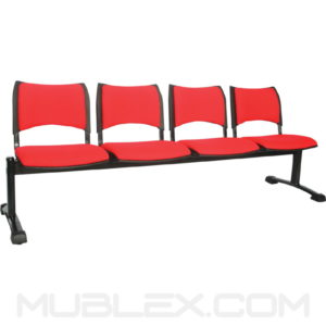 silla tandem smart 4 puestos tapizado