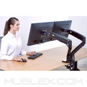 soporte 2 monitores F195a 2