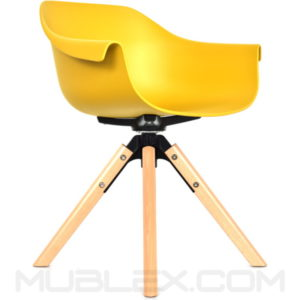 sillon liz mostaza giratoria amarilla