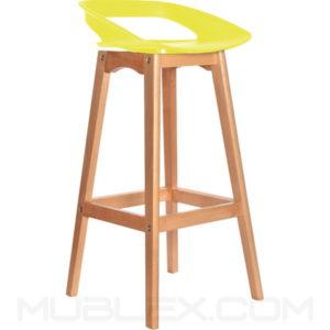 Butaco bar Tribeca madera amarilla fc