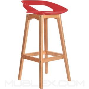 Butaco bar Tribeca madera rojo fc