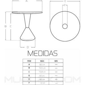 Mesa Bell medidas