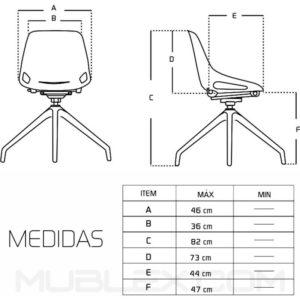 Silla Q5 base swiss medidas