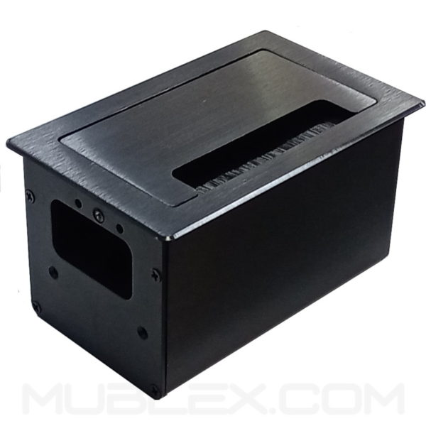 Caja de conectividad grommet Lux Mini 5 puertos negro