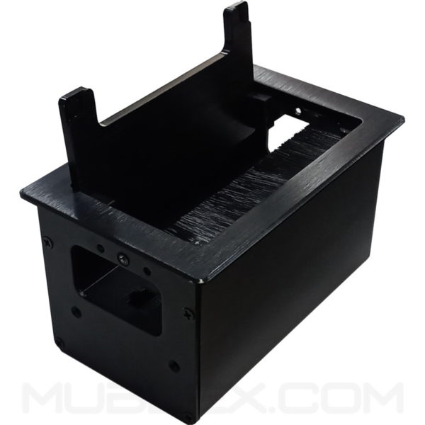 Caja de conectividad grommet Lux Mini 5 puertos negro 2