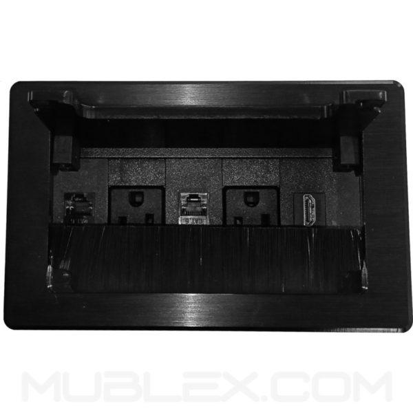 Caja de conectividad grommet Lux Mini 5 puertos negro 3