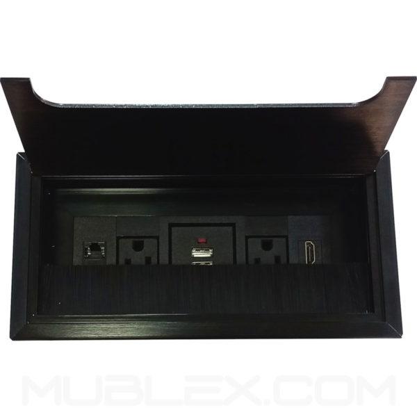 Caja de conexiones Lego x6 negro 2