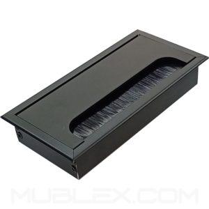 Caja pasacables para mesa Leggo Eco mini negro